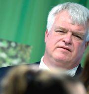 Centerpartiets partisekreterare Michael Arthursson kritiserar borgerliga partier som hjälper SD till makten. Janerik Henriksson/TT / TT NYHETSBYRÅN