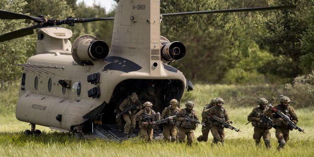 Natosoldater övar i Litauen Mindaugas Kulbis / TT / NTB Scanpix