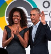 Michelle och Barack Obama. Ashlee Rezin Garcia / TT NYHETSBYRÅN