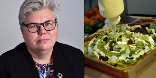 Maria Gardfjell (MP) / en pizza. TT