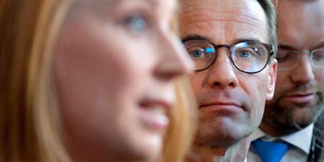 Annie Lööf (C) och Ulf Kristersson (M). Arkivbild.  Anders Wiklund/TT / TT NYHETSBYRÅN