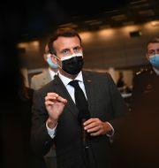 Emmanuel Macron. Christophe Archambault / TT NYHETSBYRÅN