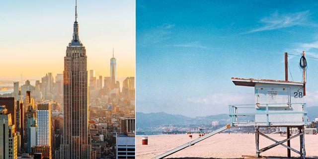 Flygpriserna till USA är lägre än någonsin. För ett par tusen kan du resa till New York. En tur till Los Angeles behöver inte bli mycket dyrare. Getty