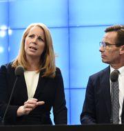Annie Lööf (C) och Ulf Kristersson (L).  Henrik Montgomery/TT / TT NYHETSBYRÅN