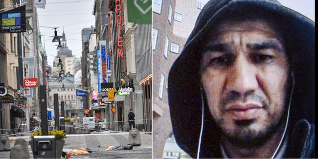 Drottninggatan efter attacken / Terrordömde Rakhmat Akilov. TT / Polisen
