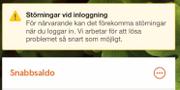 Skärmdump från Swedbanks internetbank.  Privat