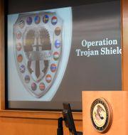 Operation Trojan Shield presenterades tidigare i somras på en pressträff i USA. Denis Poroy / TT NYHETSBYRÅN