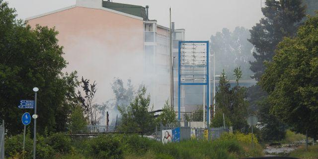 Lokalen började brinna efter explosionen Pontus Stenberg/TT / TT NYHETSBYRÅN