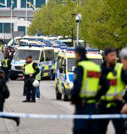 Polispådrag vid NMR-demonstration i Kungälv.  Björn Larsson Rosvall/TT / TT NYHETSBYRÅN