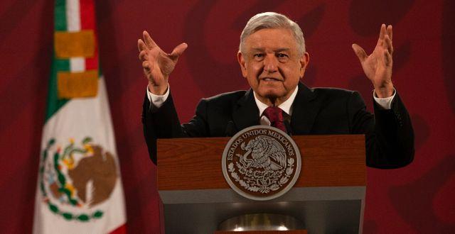 Andrés Manuel López Obrador. Marco Ugarte / TT NYHETSBYRÅN
