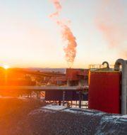 Översiktabild över gruvan i Kiruna. Hanna Franzén/TT / TT NYHETSBYRÅN