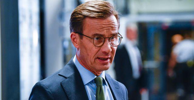 Ulf Kristersson (M) efter söndagens partiledardebatt i SVT:s Agenda. Henrik Montgomery/TT / TT NYHETSBYRÅN