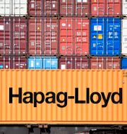 Arkivbild: Exportcontainrar i tyska Hamburg.  Fabian Bimmer / TT NYHETSBYRÅN