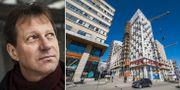 Arkivbilder: Veidekkes direktör Lennart Weiss. Byggarbete i Stockholm. TT