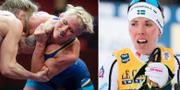 Jenny Fransson och Charlotte Kalla. TT