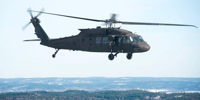 Arkiv. En Black Hawk-helikopter. FREDRIK SANDBERG / TT / TT NYHETSBYRÅN