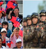 Militärparad i Taiwans huvudstad Taipei och Kinesisk militär. Arkivbilder. TT