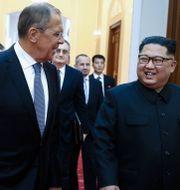 Sergej Lavrov och Kim Jong-Un. VALERY SHARIFULIN / TASS/POOL