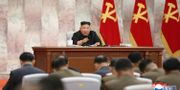 En av bilderna som släppts på Kim från mötet. TT NYHETSBYRÅN