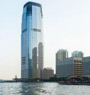 Illustrationsbild över Goldman Sachs kontor i New Jersey.  Shutterstock