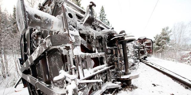 Ursparad tagvagn stoppar trafiken