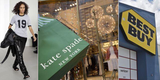 Arkivbilder: Michael Kors-modell, Tapestry-ägda Kate Spade och Best Buy. TT