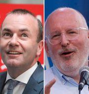 Vestager, Weber, Timmermans och Barnier.