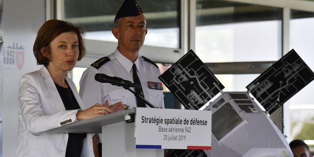 Florence Parly i Lyon. PHILIPPE DESMAZES / AFP