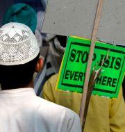 Demonstration mot IS i New Delhi i november 2015. Manish Swarup / TT NYHETSBYRÅN