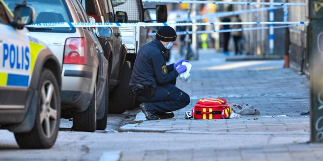 Brottsplatsen. Johan Nilsson/TT / TT NYHETSBYRÅN