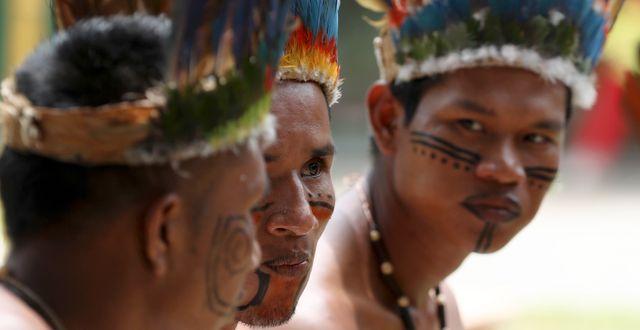 Ticuna-folket. Fernando Vergara / TT NYHETSBYRÅN
