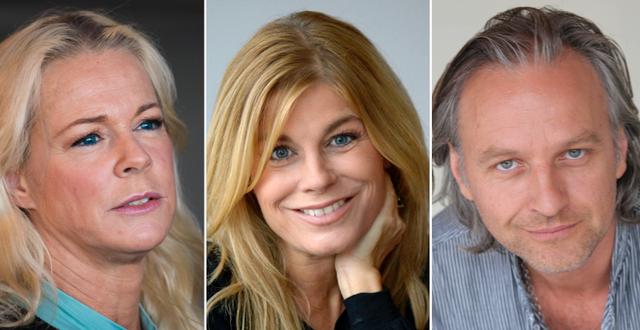 Malena Ernman, Pernilla Vahlgren och Björn Kjellman TT