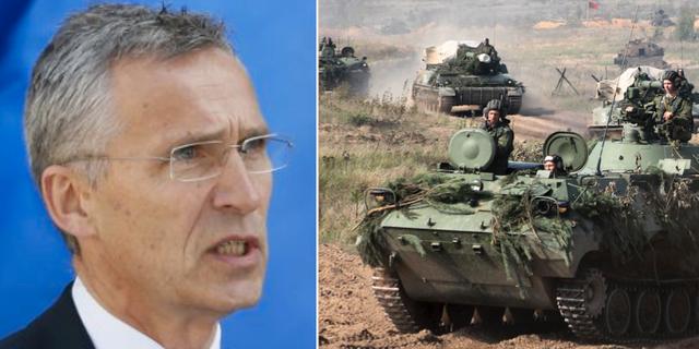 Natos generalsekreterare Jens Stoltenberg. Vitrysk militär inför övningen Zapad. TT