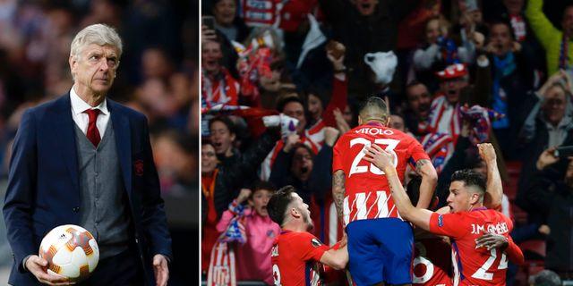 Arsène Wenger/Diego Costa firar med laget. TT