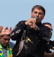 Brasiliens president Jair Bolsonaro. Bruna Prado / TT NYHETSBYRÅN