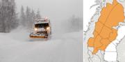 SMHI har utfärdat klass 2-varningar för nästan halva Sverige. TT/SMHI