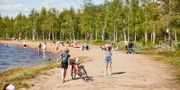 Sandvikens badplats i Gällivare. Hans-Olof Utsi/TT / TT NYHETSBYRÅN