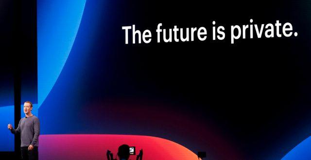Arkivbild: Mark Zuckerberg på F8-konferensen i april i år Stephen Lam / TT NYHETSBYRÅN
