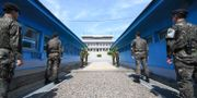 Arkivbild. Demilitariserade zonen. - / Korea Summit Press Pool