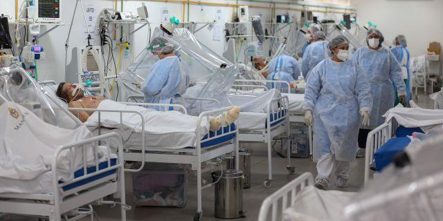Sjukhus i Brasilien. MICHAEL DANTAS / TT NYHETSBYRÅN
