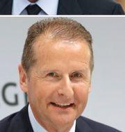 Elon Musk och Herbert Diess.  TT