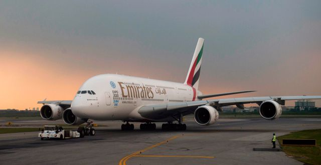Ett flygplan från Emirates.  ROMEO GACAD / TT NYHETSBYRÅN