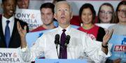 Joe Biden under ett kampanjmöte. STEVE APPS / TT NYHETSBYRÅN