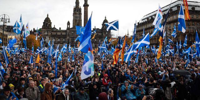 Självständighetsdemonstrationer i Glasgow förra året. ANDY BUCHANAN / AFP