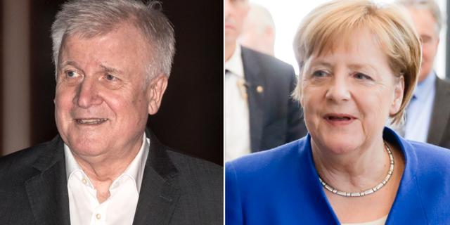 Horst Seehofer och Angela Merkel TT