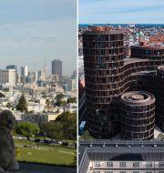 Vy över Silicon Valley och centrala Köpenhamn.  TT
