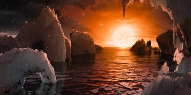 """Tre av planeterna befinner sig i den """"beboeliga zonen"""". Nasa"""