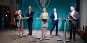 Karin Ernlund (C), Jan Jönsson (L), Anna König Jerlmyr (M), Daniel Helldén (MP), Erik Slottner (KD) Jessica Gow/TT / TT NYHETSBYRÅN