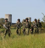 Militärövning på Gotland. Sören Andersson/TT / TT NYHETSBYRÅN
