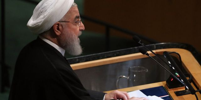 Hassan Rouhani.  SHANNON STAPLETON / TT NYHETSBYRÅN